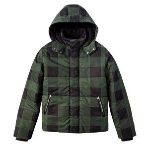 Adam Lippes Target Green Black Plaid Puffer Jacket